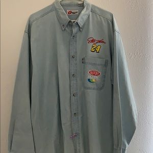 Other - Authentic Jeff Gordon jean button shirt